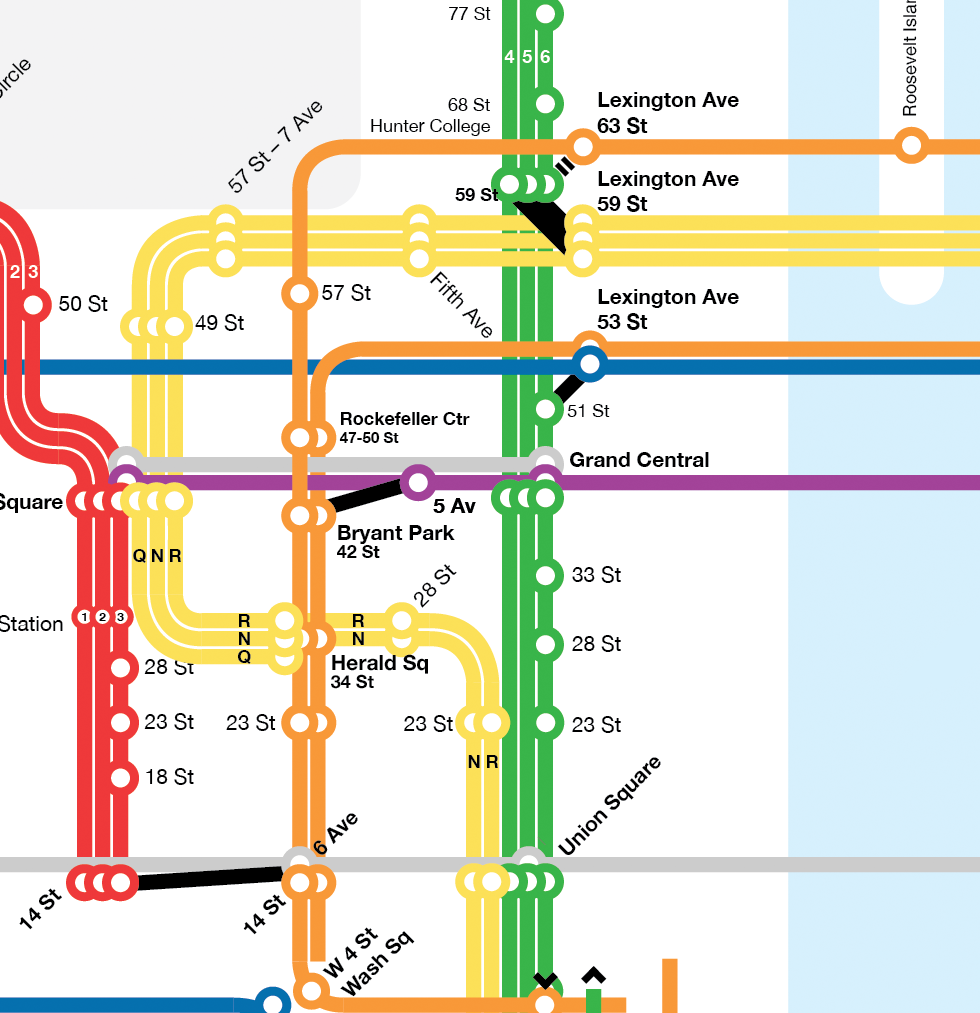 New York City Subway Map Design.Leo Mancini Design Nyc Subway Map Experiment